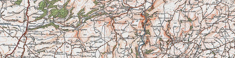 Old map of Aber-Goleu in 1923