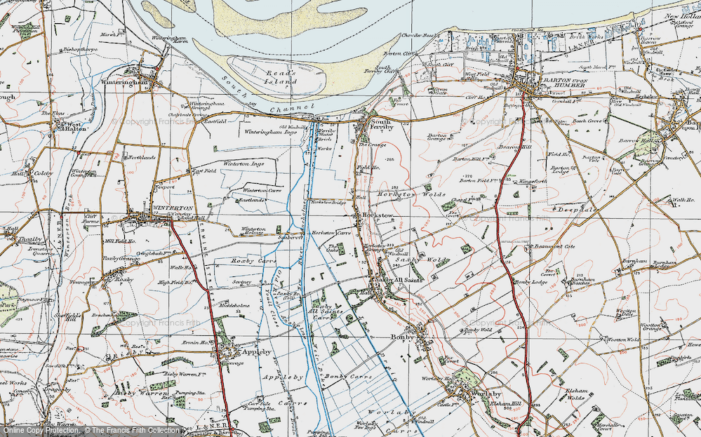 Old Map of Horkstow, 1924 in 1924