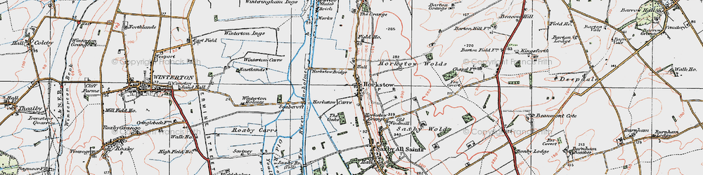 Old map of Winterton Carrs in 1924