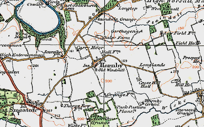 Old map of West Worsall in 1925