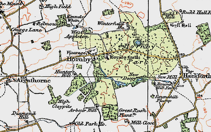 Old map of Abour Hill in 1925