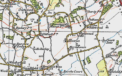 Old map of Horne in 1920