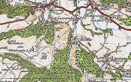 Old map of Horner in 1919