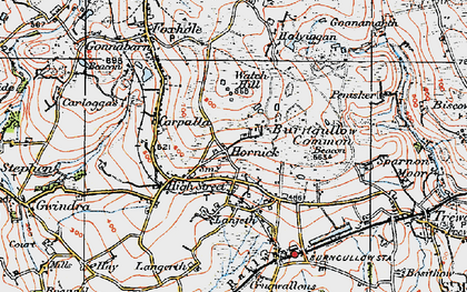 Old map of Hornick in 1919