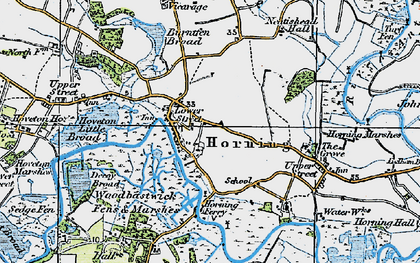 Old map of Horning in 1922