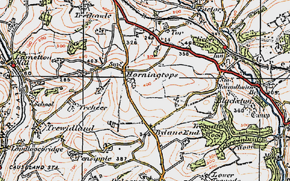 Old map of Horningtops in 1919