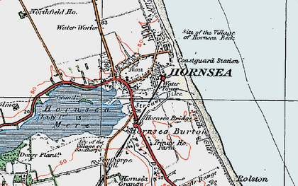 Old map of Hornsea in 1924