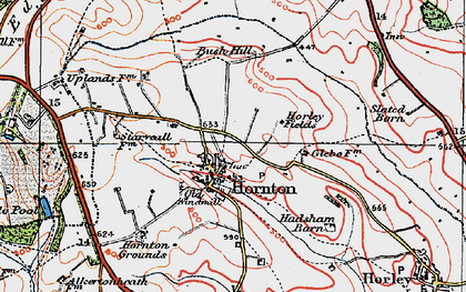 Old map of Bush Hill in 1919