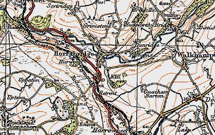 Old map of Horrabridge in 1919