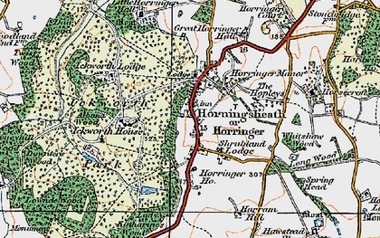 Old map of Albana Wood in 1921