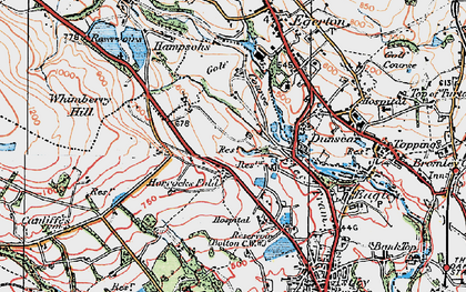 Old map of Whimberry Hill in 1924