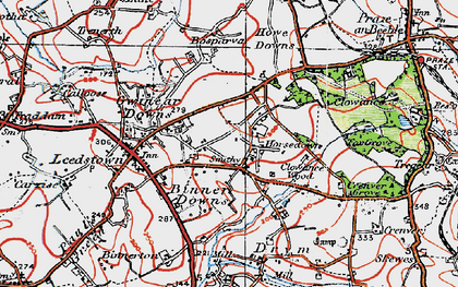 Old map of Horsedowns in 1919