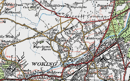 Old map of Horsell in 1920