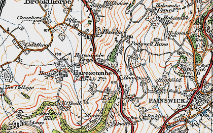 Old map of Bacchus in 1919