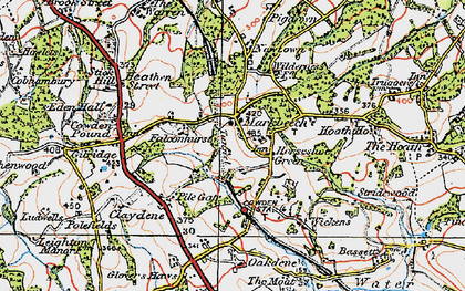 Old map of Wickens in 1920