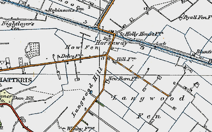 Old map of Langwood Hill in 1920