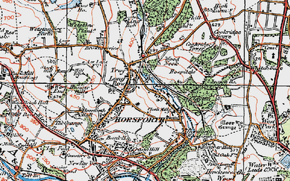 Old map of Horsforth in 1925