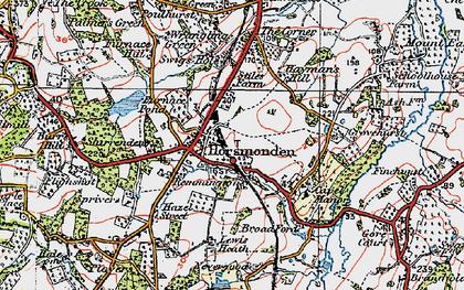 Old map of Horsmonden in 1920