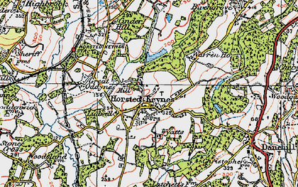 Old map of Wyatts in 1920