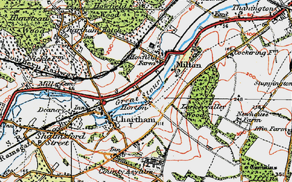 Old map of Larkey Valley Wood in 1920