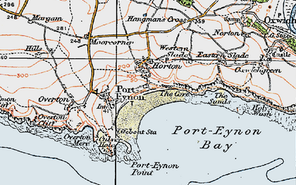 Old map of Horton in 1923