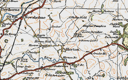 Old map of Willcross in 1924