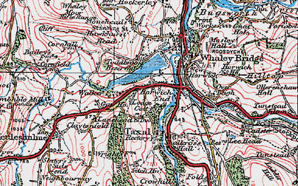 Old map of Horwich End in 1923