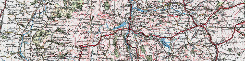 Old map of Whaley Moor in 1923