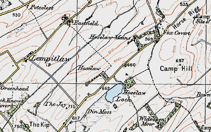 Old map of Wideopen Moor in 1926