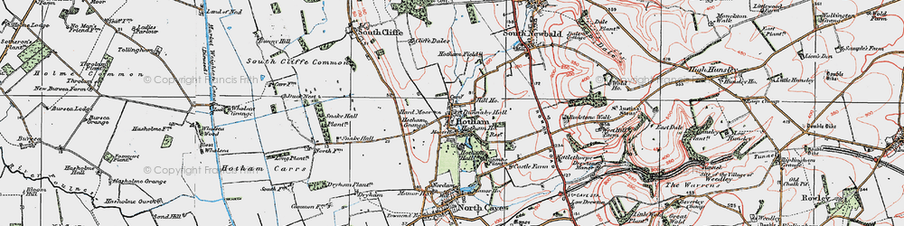 Old map of Hotham in 1924