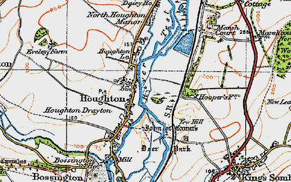 Old map of Houghton in 1919