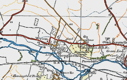 Old map of Wyton in 1919