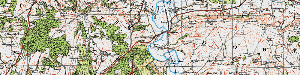 Old map of Whiteways Lodge in 1920