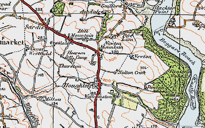 Old map of Thurston in 1922