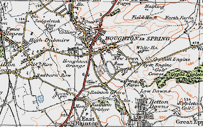 Old map of Houghton-Le-Spring in 1925