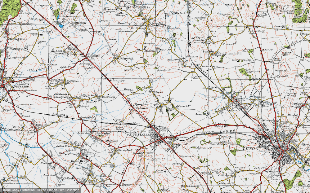 Old Map of Historic Map covering Thorn in 1920