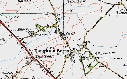 Old map of Houghton Regis in 1920