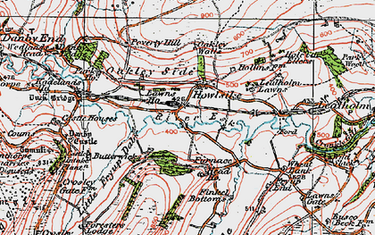 Old map of Wheat Bank in 1925