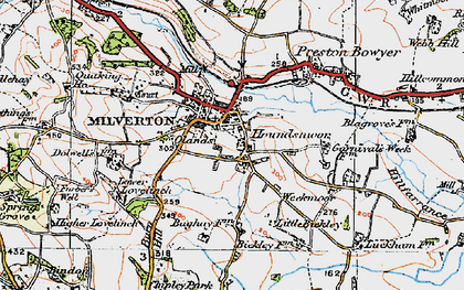 Old map of Auton Dolwells in 1919