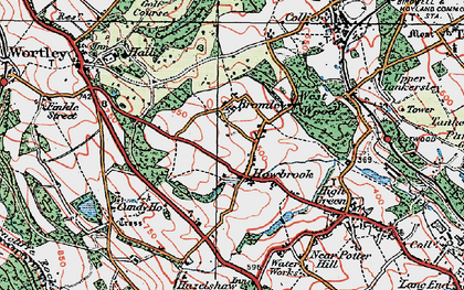 Old map of Howbrook in 1924