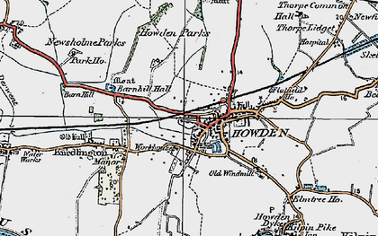 Old map of Howden in 1924