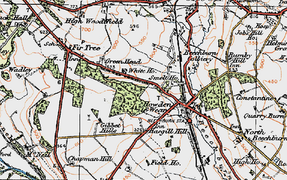 Old map of Howden-le-Wear in 1925
