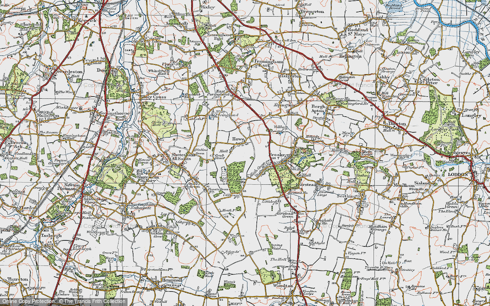 Old Map of Howe, 1922 in 1922