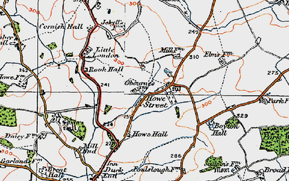 Old map of Yeldhams in 1920