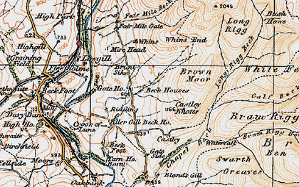 Old map of Whin's in 1925