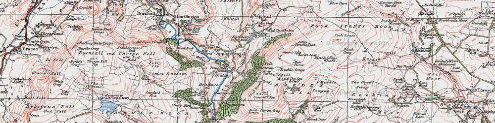 Old map of Agill Ho in 1925
