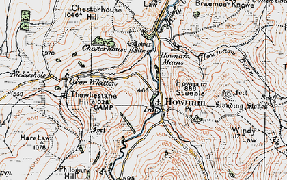 Old map of Whitton Loch in 1926