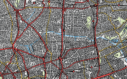 Old map of Hoxton in 1920