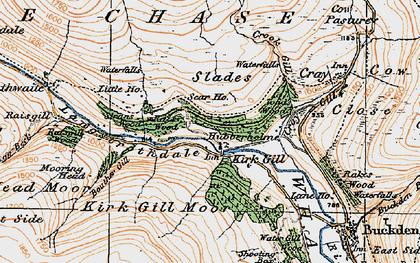 Old map of Hubberholme in 1925
