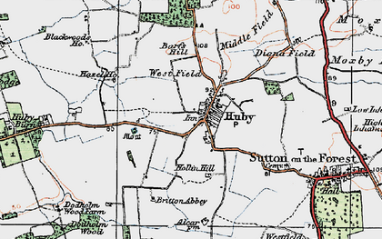 Old map of Barfs Hill in 1924
